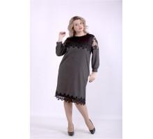 Серое платье ККК88838-01395-2