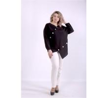 Черная блузка ККК8887-01405-3