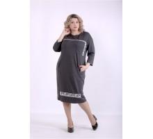 Темно-серое платье ККК88846-01392-3
