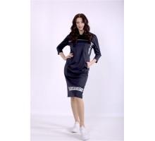 Темно-синее платье ККК88848-01392-1
