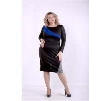 Черное платье с синим ККК88850-01391-2