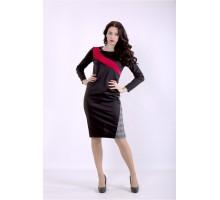 Черное платье с алым ККК88851-01391-1