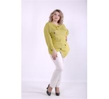 Горчичная блузка ККК8888-01405-2