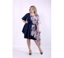 Темное платье с цветами ККК88858-01388-3