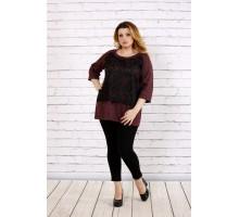 Бордовая свободная блузка из ангоры ККК1735-0698-2