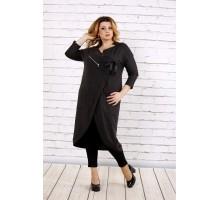 Темно-серое платье-туника ККК1724-0702-2