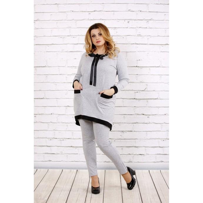Светло-серый костюм из двухнитки ККК1730-0700-1