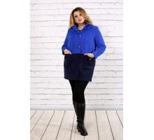 Синее пальто из кашемира ККК1749-t0692-3