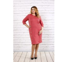 Трикотажное платье цвета фрезия ККК1743-0695-3