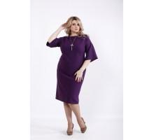 Баклажанное платье до колена ККК525-01061-3