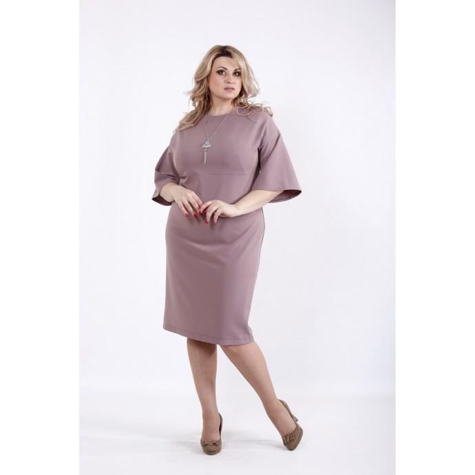 Платье бисквит с рукавом ККК526-01061-2