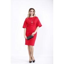 Алое платье миди ККК527-01061-1