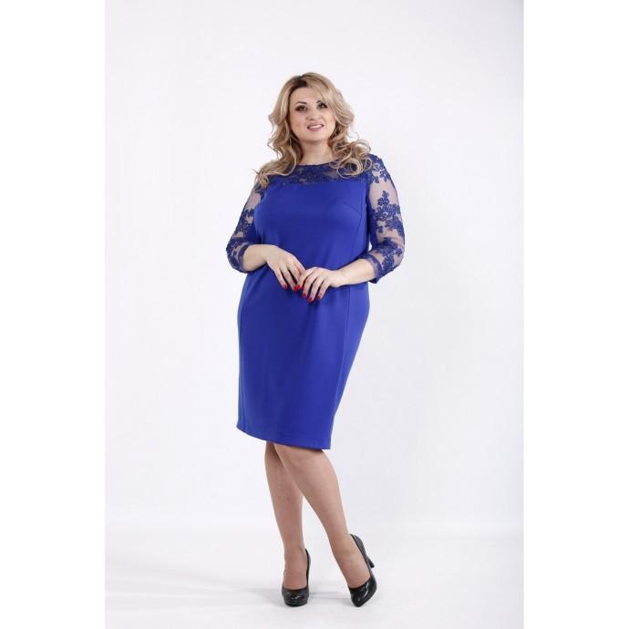 Простое и нарядное платье электрик ККК529-01060-2