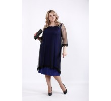 Фиолетовое платье с органзой ККК521-01063-1