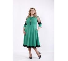 Зеленое пышное платье ККК540-01056-3