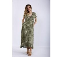 Платье хаки в горох ККК44418-01205-1