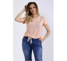 Персиковая футболка ККК44430-01201-1