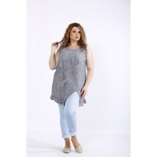 Асимметричная блузка-туника ККК44436-01198-2