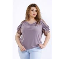 Блузка мокко с коротким рукавом ККК44443-01196-1