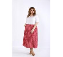 Платье с красной юбкой в клетку ККК44454-01192-2