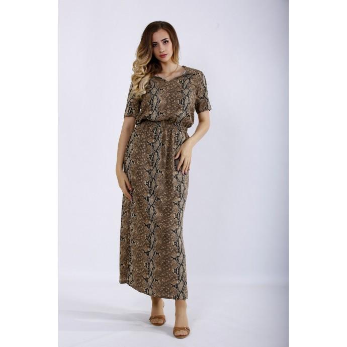 Длинное платье питон ККК44461-01190-1