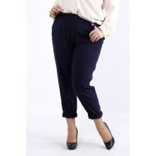 Легкие летние брюки синего цвета ККК44410-b055-2