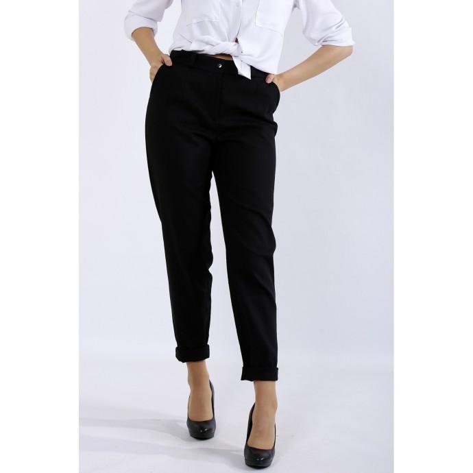 Черные брюки из льна ККК44411-b055-1