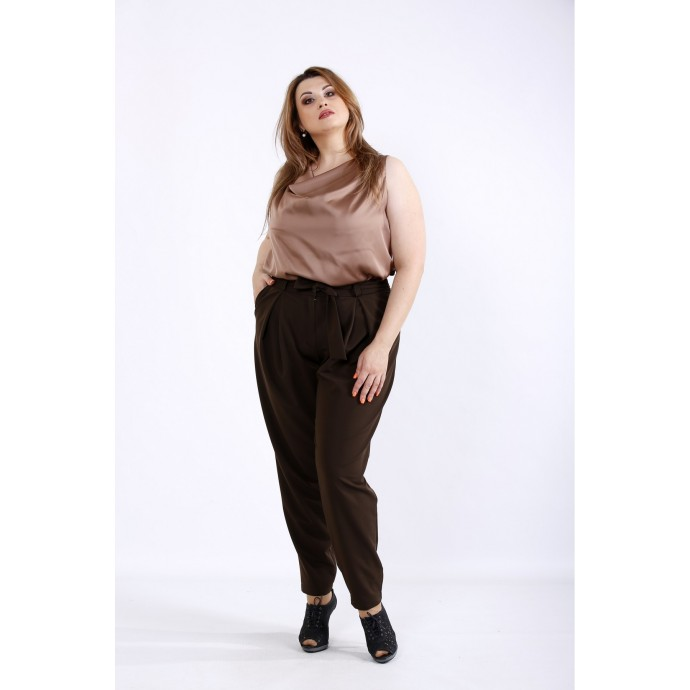 Шоколадный комплект: блузка и брюки ККК55520-01220-3