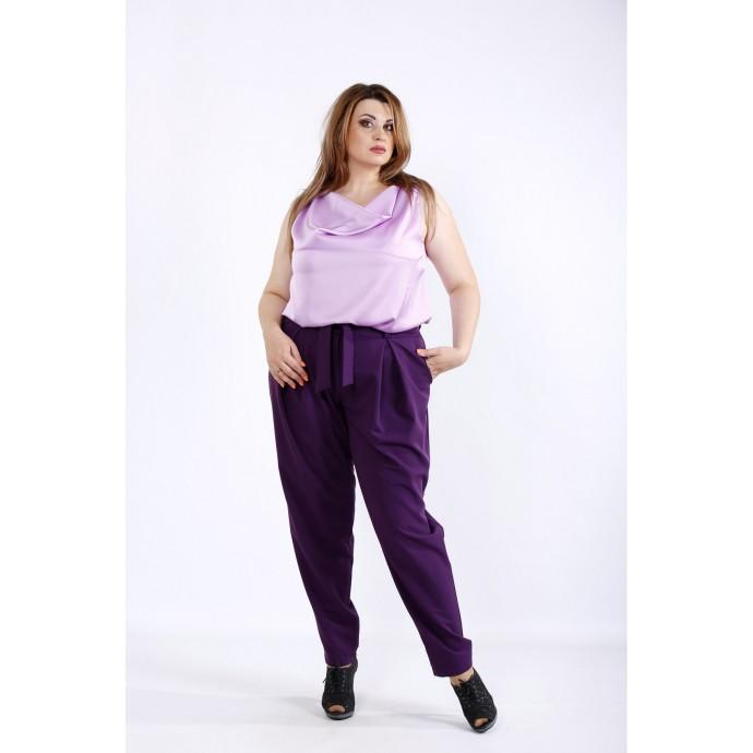 Фиолетовый костюм: брюки и блузка ККК55521-01220-2