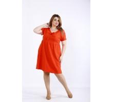 Коралловое летнее платье ККК55524-01219-2