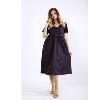 Темное платье с пышной юбкой ККК55531-01217-1