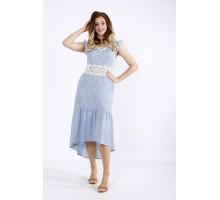 Голубое платье с кружевом ККК55534-01216-1