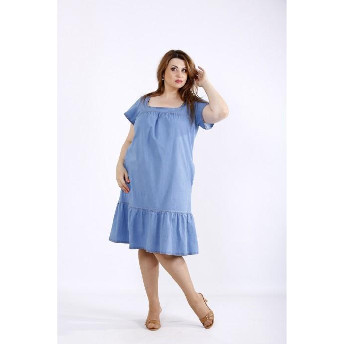 Джинсовое светлое платье ККК55547-01210-1
