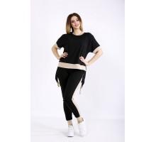 Черный удобный костюм ККК22213-01133-1