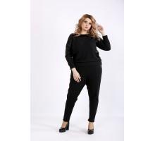 Черный повседневный костюм ККК22215-01132-2
