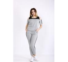Светло-серый спортивный костюм ККК22222-01130-1