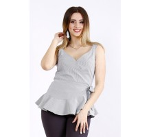 Легкая блузка в черную полоску ККК22225-01129-1
