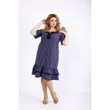 Миди платье с голубым принтом ККК22229-01126-3