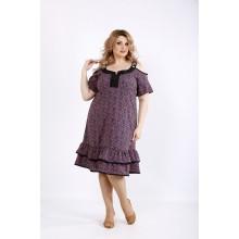 Платье с коралловым принтом ККК22230-01126-2