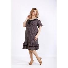 Платье с юбкой и принтом ККК22231-01126-1