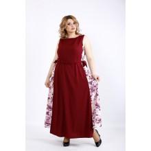 Бордовое нарядное платье в пол ККК22233-01125-2