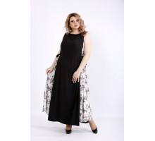 Черное платье в пол без рукавов ККК22234-01125-1
