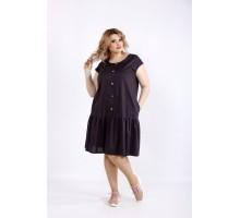 Платье до колена антрацит ККК22244-01121-3