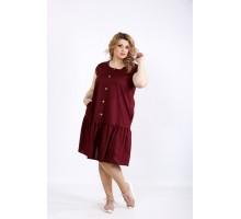 Сливовое платье до колена ККК22245-01121-2