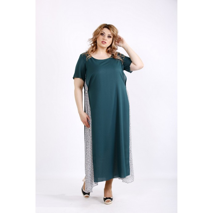 Зеленое макси платье ККК22254-01118-2
