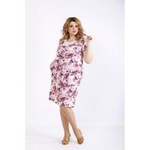 Светлое платье с розовым оттенком ККК22256-01117-3