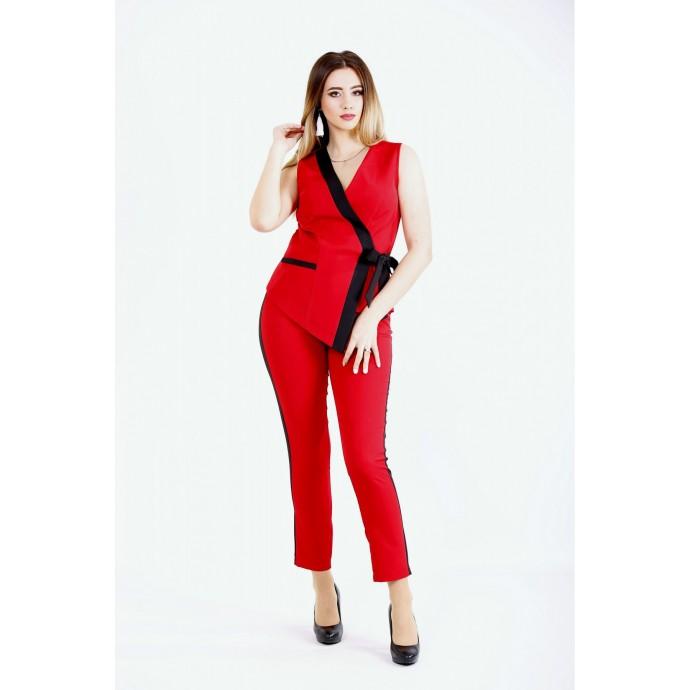 Красный модный костюм ККК2226-01135-1
