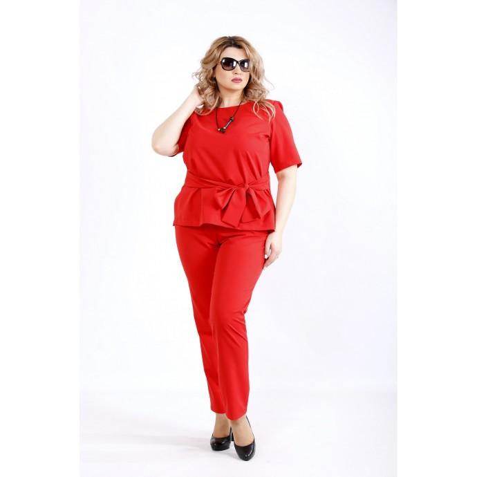 Красный строгий костюм ККК2228-01134-2
