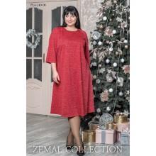 Платье трапеция красное топs4-PL4-240