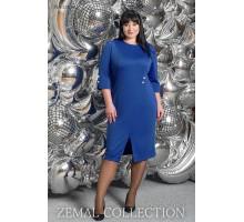 Синее платье большого размера топs5-PL4-231-24